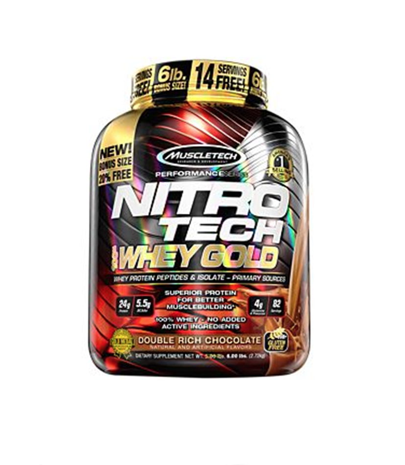 MuscleTech Nitro Tech 100% Whey Gold Protein Peptides & Isolate