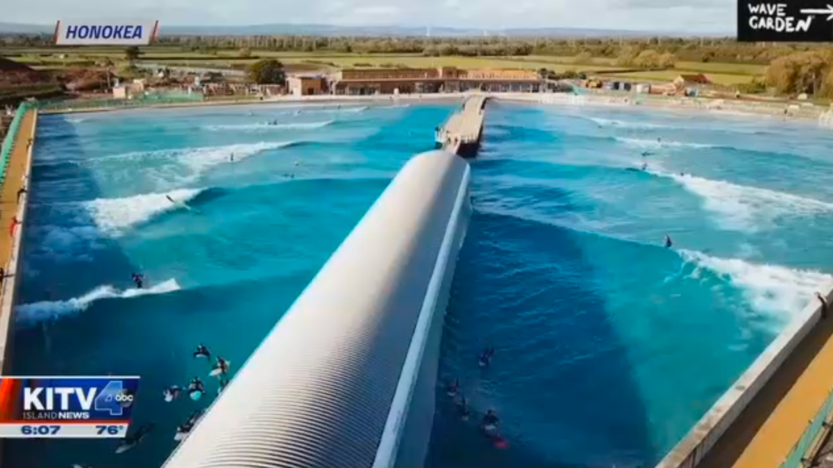 New 5-Acre Wave Pool Proposed for West Side of Oahu
