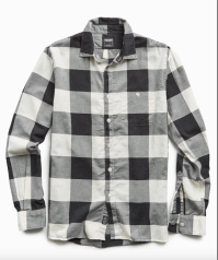 Black and White Check Flannel Shirt