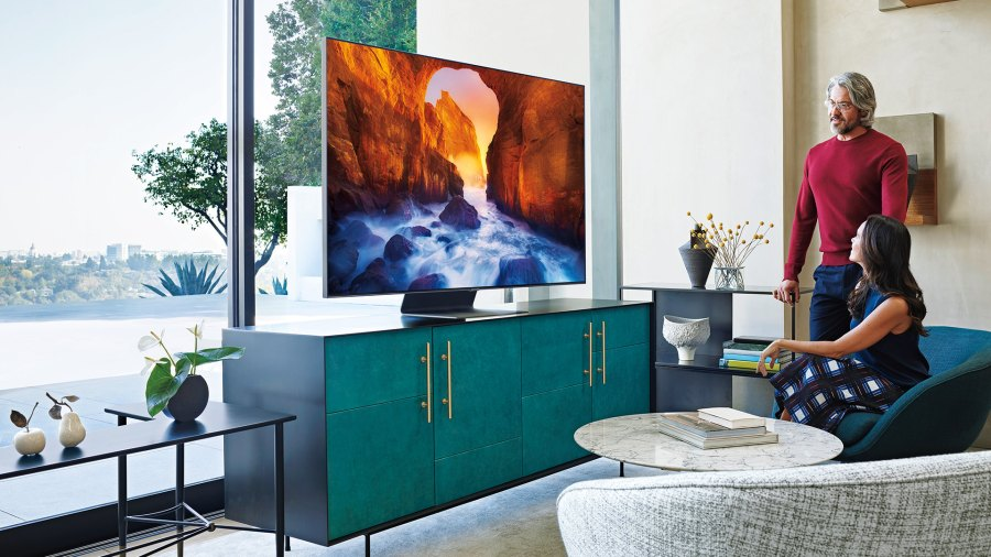 home theater; Q90R QLED Smart 4K UHD TV by Samsung