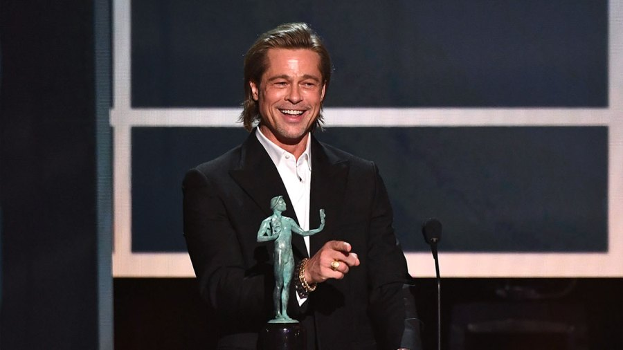 26th Annual Screen Actors Guild Awards, Show, Shrine Auditorium, Los Angeles, USA - 19 Jan 2020 Brad Pitt - Outstanding Performance by a Male Actor in a Supporting Role - Once Upon a Time in Hollywood 19 Jan 2020
