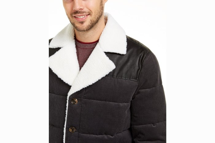 shearling-lined puffer