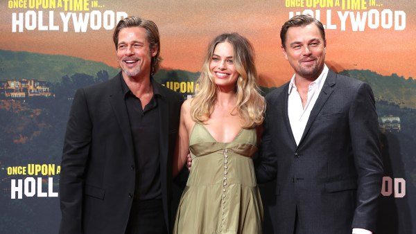 Once Upon A Time In Hollywood film premiere in Berlin, Germany - 01 Aug 2019 Brad Pitt, Australian actress/cast member Margot Robbie and US actor/cast member Leonardo DiCaprio pose during the German premiere of 'Once Upon a Time in... Hollywood' in Berlin, Germany, 01 August 2019. The movie opens in German cinemas on 15 August. 1 Aug 2019