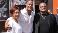 Dwayne Johnson hand and footprint ceremony, Los Angeles, America - 19 May 2015 Dwayne Johnson with Parents Ata Johnson and Rocky Johnson 19 May 2015