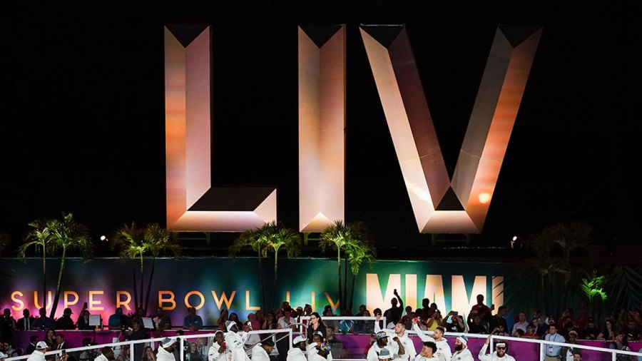 NFL Super Bowl LIV, Opening Night, Miami, Florida, USA - 27 Jan 2020 The Kansas City Chiefs group together on stage 27 Jan 2020