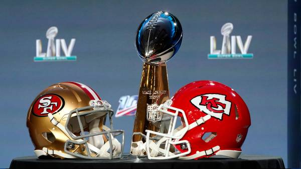 Super Bowl Football, Miami, USA - 29 Jan 2020 The Vince Lombardi Trophy is displayed before a news conference for the NFL Super Bowl 54 football game, in Miami 29 Jan 2020