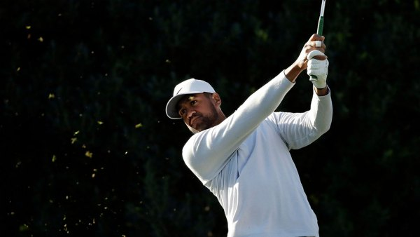 American Express Golf, La Quinta, USA - 16 Jan 2020 Tony Finau hits from the third tee during the first round of The American Express golf tournament at La Quinta Country Club, in La Quinta, Calif 16 Jan 2020