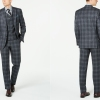 Ralph Lauren Classic-Fit UltraFlex Stretch Charcoal Plaid Suit