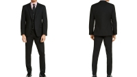 Alfani Slim-Fit Stretch Black Solid Suit