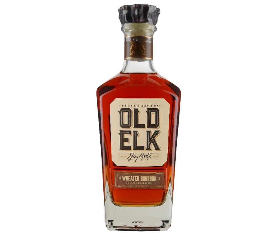 A bottle of Old Elk Wheated Bourbon.
