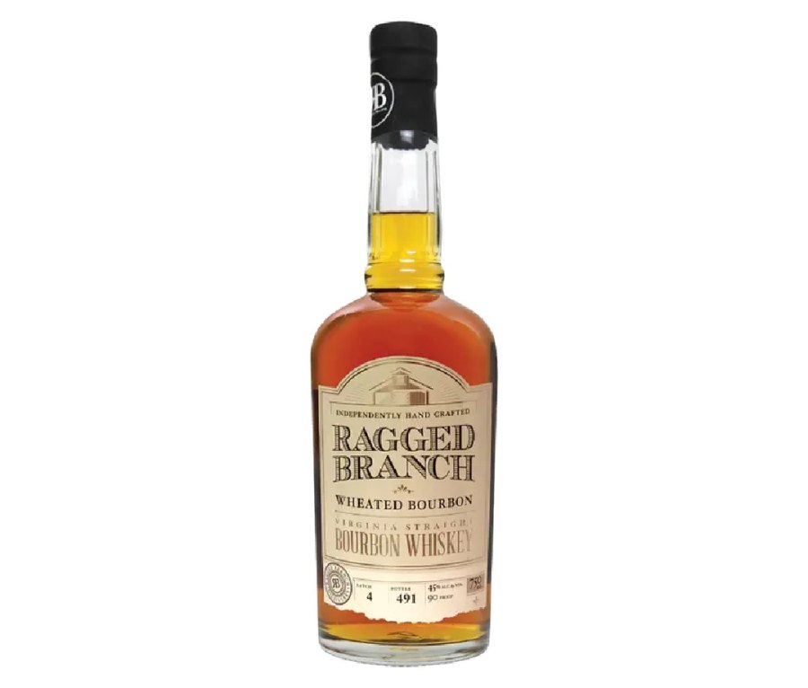 A bottle of Ragged Branch Wheated Bourbon.
