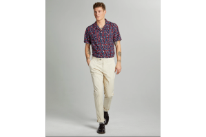 Slim Fit Tab Front Stretch Chinos