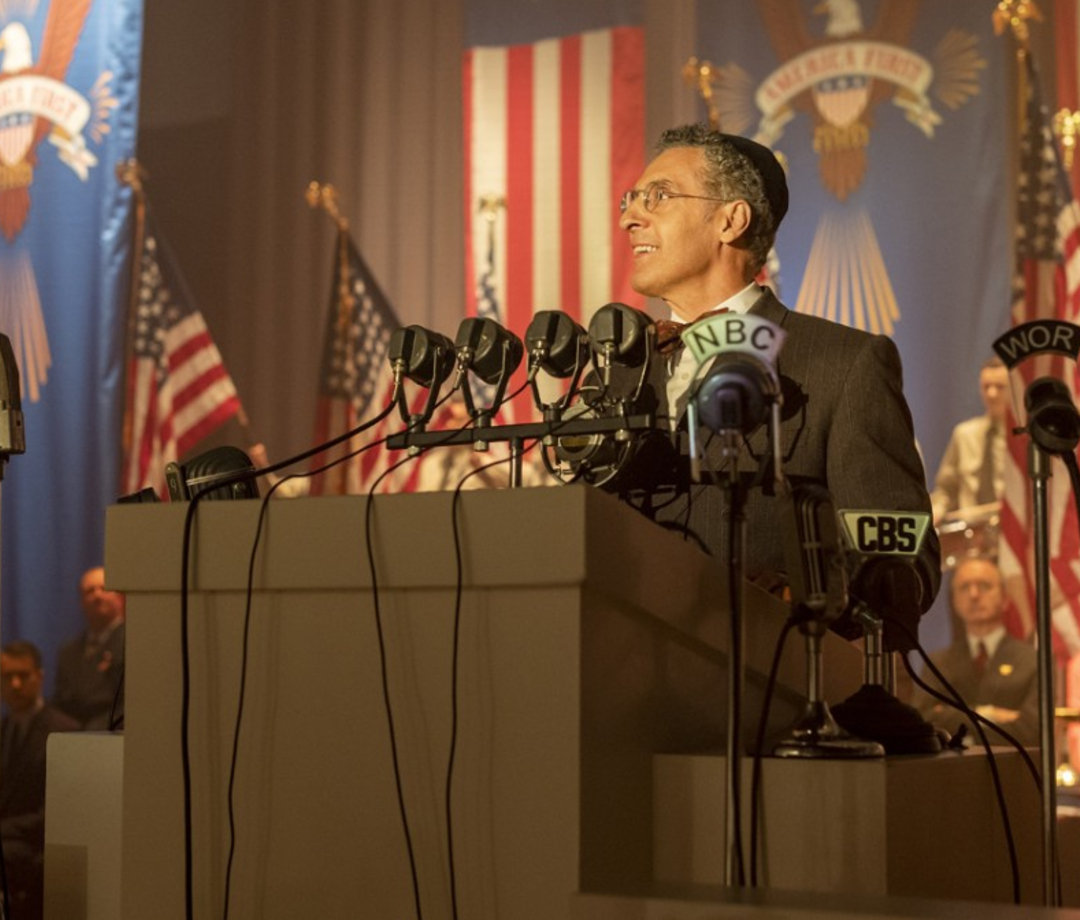 "In HBO's new ""The Plot Against America,"" Turturro plays a rabbi who supports the nationalist Charles Lindbergh."