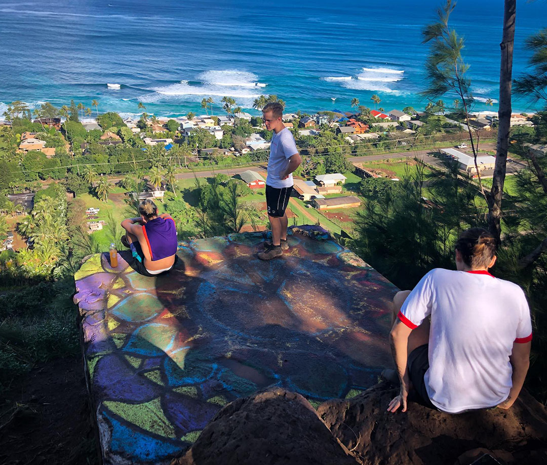 View from the Ehukai Pillbox