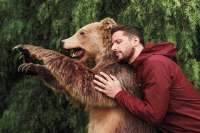 Andy Samberg wears windbreaker by Patagonia, available at Mr. Porter