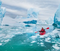 Winter kayaking in Antarctica
