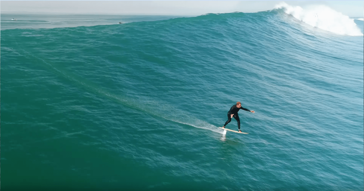 Laird Hamilton And Crew Surf Massive Waves At Nazare On Foil Boards