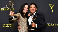 71st Annual Primetime Creative Arts Emmy Awards, Day 1, Press Room, Microsoft Theater, Los Angeles, USA - 14 Sep 2019 Elizabeth Chai Vasarhelyi and Jimmy Chin - Outstanding Directing for a Documentary/Nonfiction Program - 'Free Solo' 14 Sep 2019