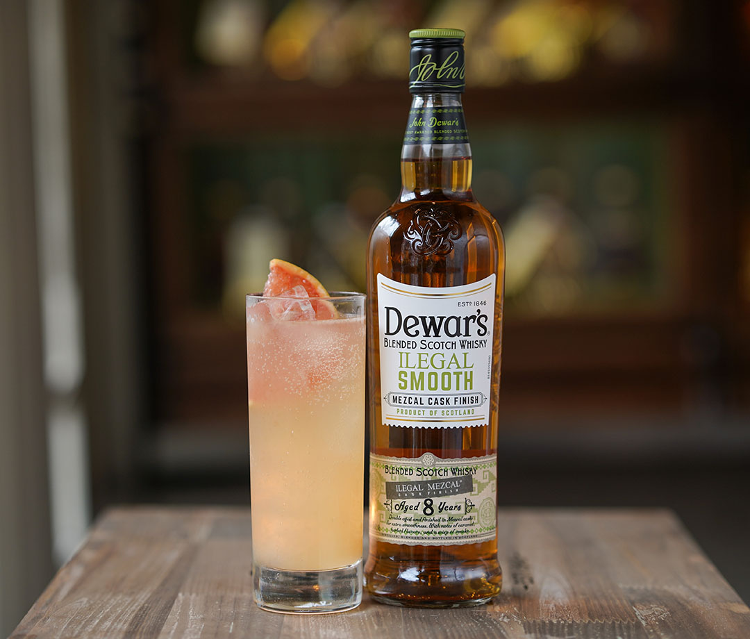 Dewar's Illegal Smooth with a Toasted Citrus Highball