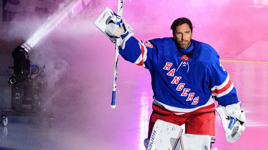 NHL Predators vs Rangers, Manhattan, USA - 04 Oct 2018 New York Rangers goaltender Henrik Lundqvist (30) is introduced during the home opener between The New York Rangers and The Nashville Predators at Madison Square Garden in Manhattan, New York. Mandatory credit: Kostas Lymperopoulos/CSM 4 Oct 2018 Image ID: 9915012p Featured in: NHL Predators vs Rangers, Manhattan, USA - 04 Oct 2018 Photo Credit: Kostas Lymperopoulos/CSM/Shutterstock