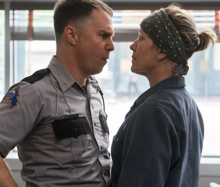 """With Frances McDormand in """"Three Billboards Outside Ebbing, Missouri."""""""