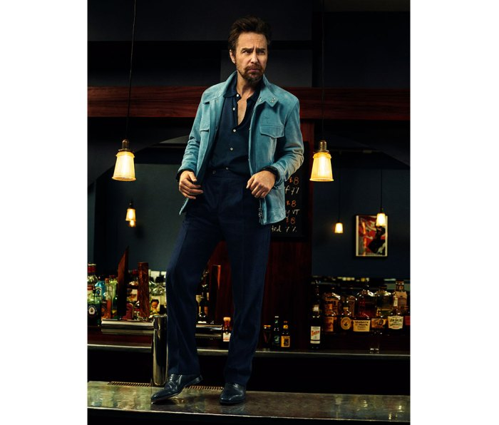 Jacket by Dior. Shirt by Sandro. Pants by Missoni. Shoes by Louboutin.