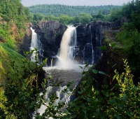 High Falls Trail and Middle Falls Trail in Grand Portage State Park in Minnesota