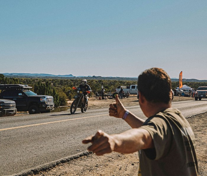 Pointing Thornton in the right direction during The Baja 1000.