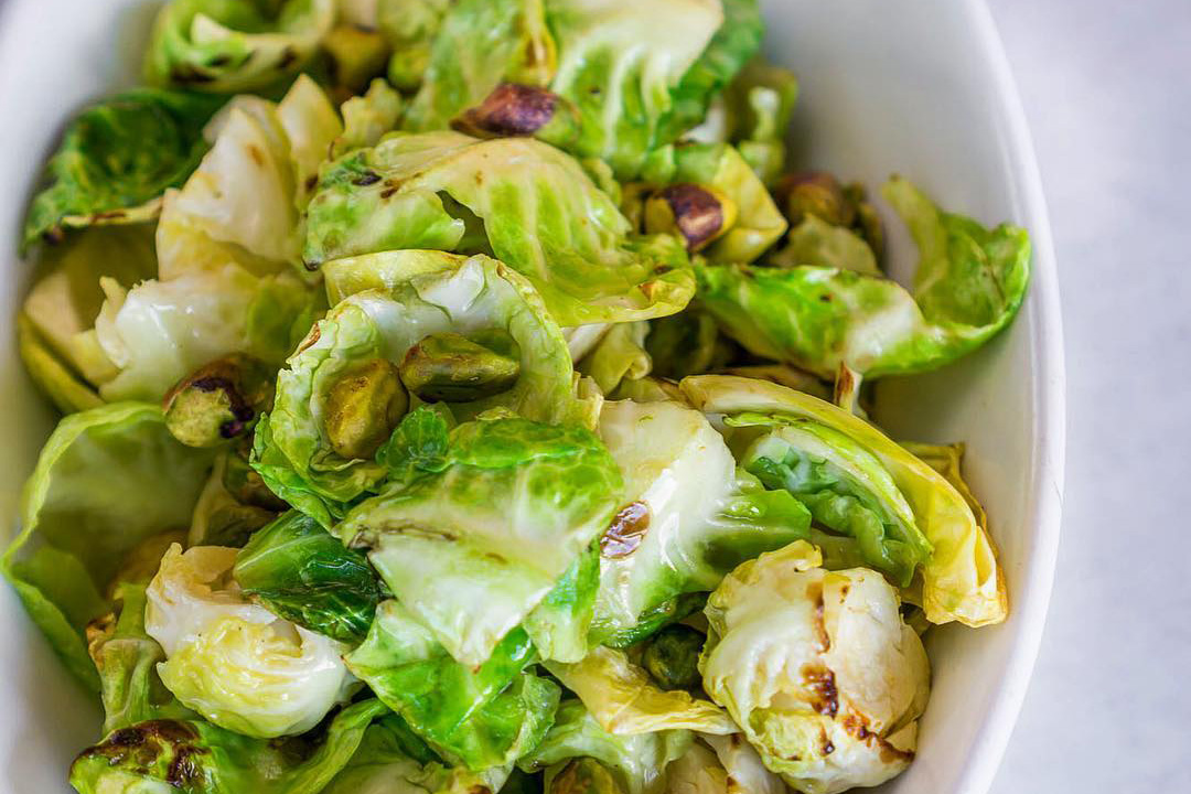 Brussels Sprouts with Pistachio (Credit Sam Marvin)