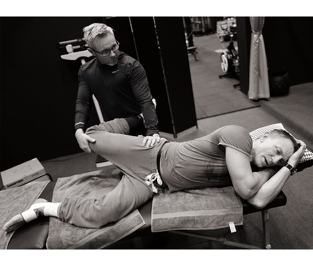 Daniel Craig getting stretched out