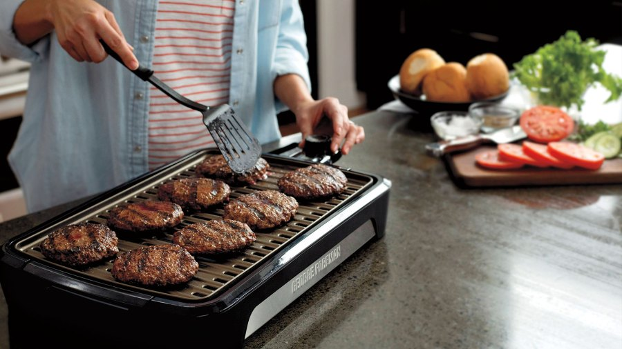 George Foreman Open Grate Smokeless Grill