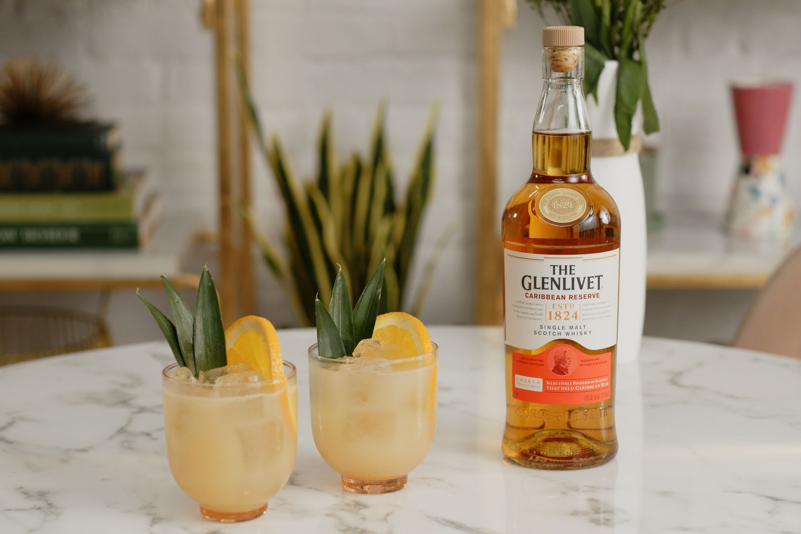 Home.fit TGL-Caribbean-Mai-Tai-with-Bottle Glenlivet's Caribbean Reserve Is a Rum-Finished Bargain for Your Bar