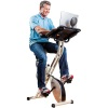 combination exercise bike and desk
