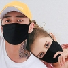 Soft Foot Black Adult Cotton Face Mask
