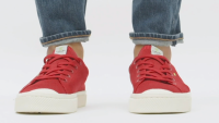Raw Red Knit Sneakers