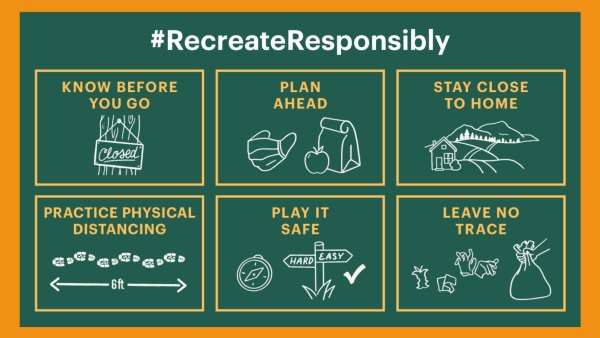 #RecreateResponsibly campaign for summer adventures.