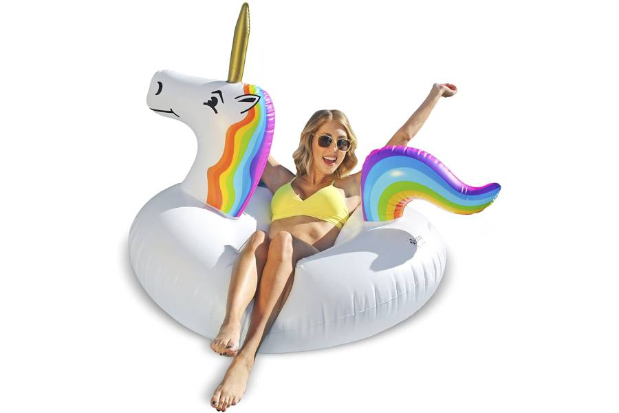 GoFloats Unicorn Pool Float Party Tube