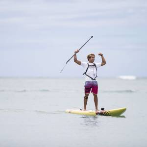 Kai Lenny finish M2O Molokai to Oahu SUP