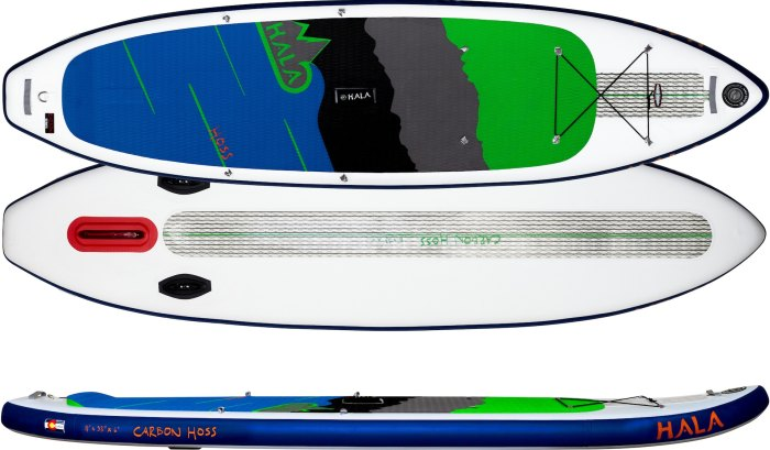 Hala Hoss inflatable standup paddleboard river SUP Steamboat