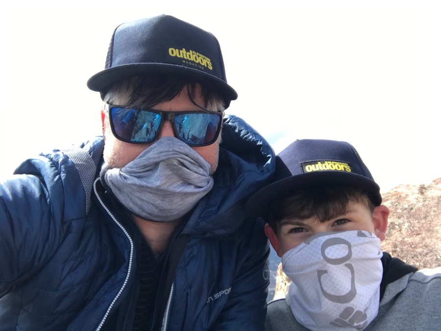 outdoor dad with covid mask