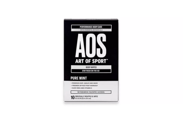 Art of Sport face and body wipes