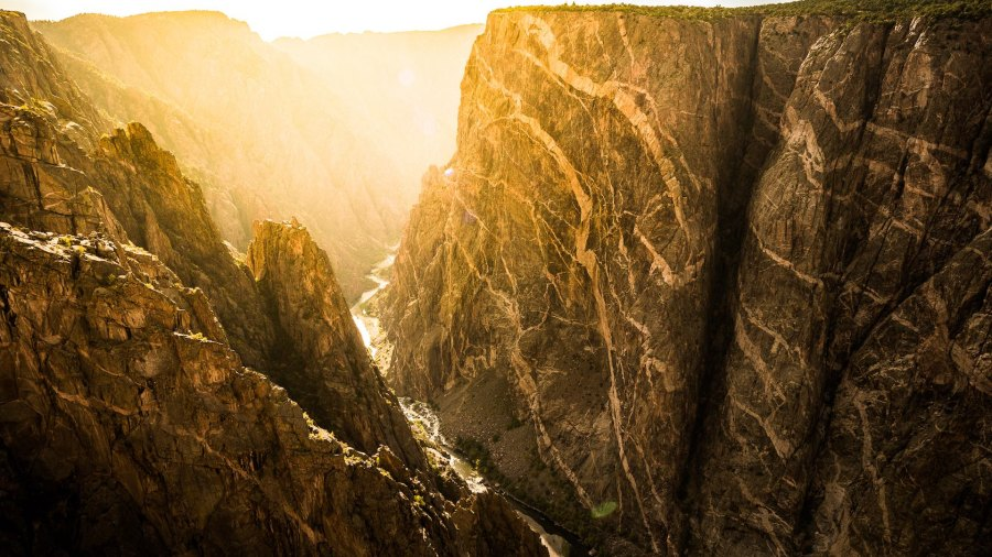 Sunset at Painted Wall Black Canyon of the Gunnison National Park