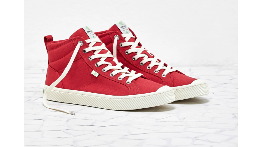 OCA High Top Red Canvas Sneakers