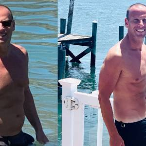 Before and after weight loss transformation of Michael Schulson, chef and CEO/founder of Schulson Collective