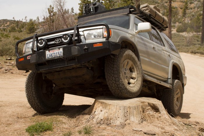 Overland off-road capability tires and suspension