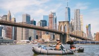 packrafting in New York City