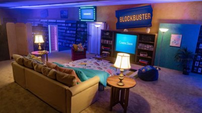 Interior of Blockbuster in Bend, Oregon