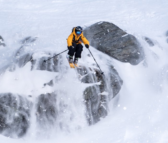 Pete Oswald freeskiing at The Remarkables in Queenstown