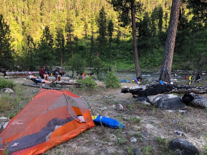 South Fork Salmon wilderness camping