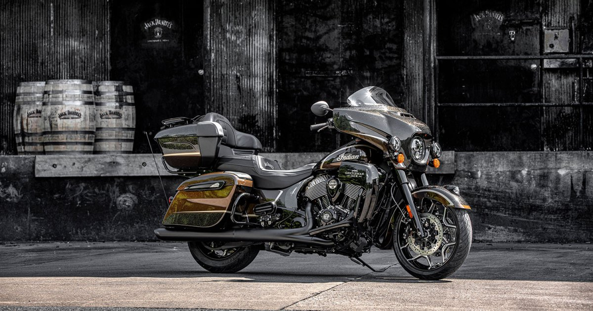 Photo of Indian Motorcycle's Custom Roadmaster Collab With Jack Daniel's